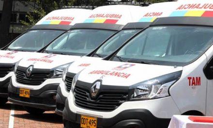Nuevas ambulancias para diez municipios de Cundinamarca