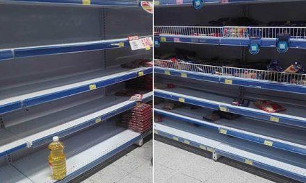 Miles de ciudadanos de Soacha se aglomeran  en los supermercados y los dejan sin mercancía