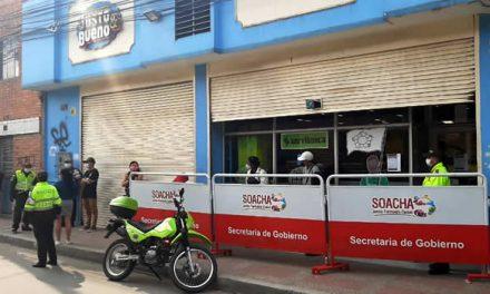 Policía refuerza seguridad en almacenes de cadena y centros comerciales de Soacha