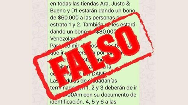 Noticia falsa generó intento de saqueo en Bogotá