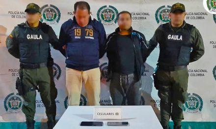 Dos capturados por extorsión en Cundinamarca