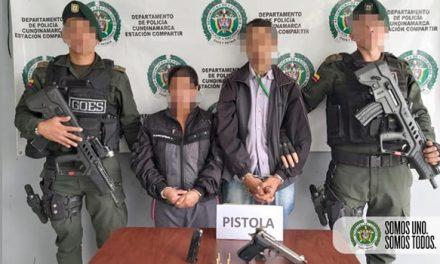 Tres capturados por porte ilegal de armas de fuego en Soacha