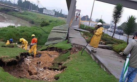Temblor dejó sin agua a Chía y dañó puente peatonal