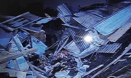 Tres viviendas se desplomaron en Soacha
