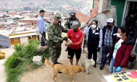 En cuarentena,  Ejército y Fuerza Verde se solidarizan  con Soacha
