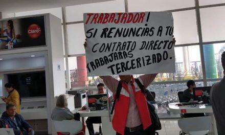 Trabajadores de Claro protestan en Soacha por despidos de la compañía