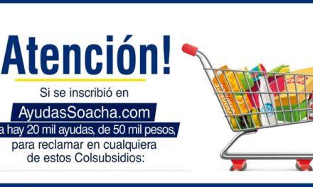 Publican listado de beneficiarios de bonos para  reclamar mercados en Colsubsidio Soacha