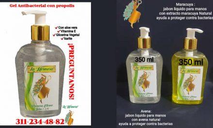 Los productos antibacteriales de origen natural que se venden en Soacha