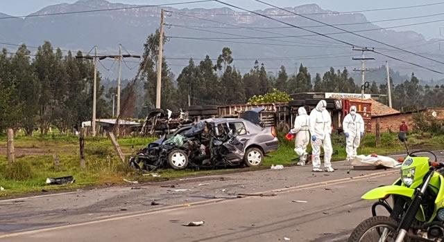 Fatal accidente en la vía Ubaté-Zipaquirá  deja un muerto y tres heridos