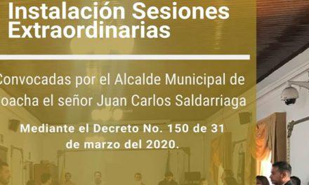 En medio de la crisis por coronavirus, Concejo de Soacha inicia sesiones extraordinarias