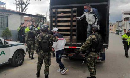 Policía, Ejército y Migración Colombia buscan infractores del aislamiento obligatorio en  Soacha