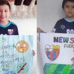 Niños de un club deportivo de Soacha utilizan llamativa  forma de enviar mensajes en medio de la pandemia