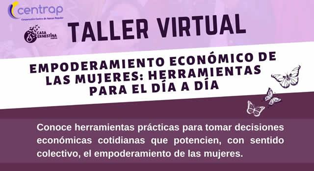 Taller virtual de empoderamiento económico a la mujer en Soacha