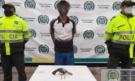 En Soacha detienen sujeto que le disparó a la Policía
