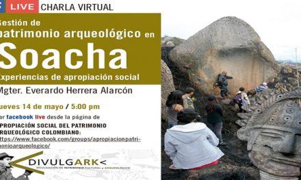 Invitación a charla 'Gestión del patrimonio arqueológico en Soacha'