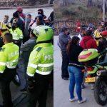 Piratas bloquean vía de acceso a la comuna cuatro de Soacha