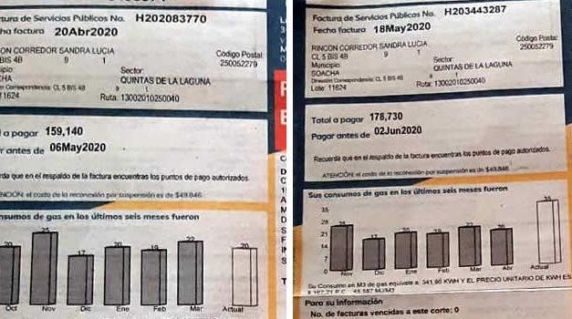 Se triplicó factura de Enel-Codensa y Gas Natural en un sector de Soacha