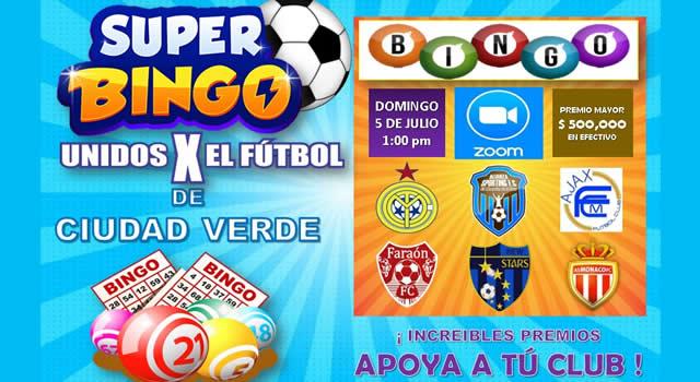 Clubes deportivos de Ciudad Verde organizan bingo solidario