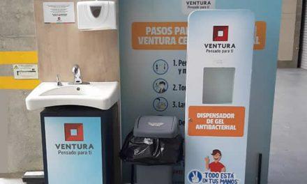 Centro comercial Ventura implementa medidas de bioseguridad para empleados