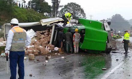 Fatal accidente  de tractocamión en antiguo territorio de Soacha
