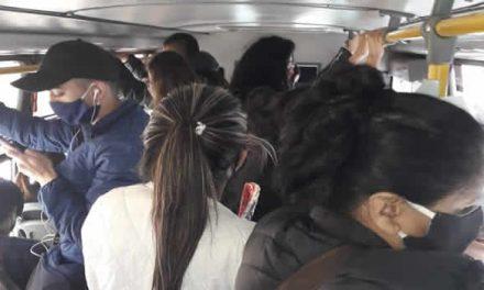 En el transporte público  de Soacha  no  se respetan protocolos de distanciamiento social