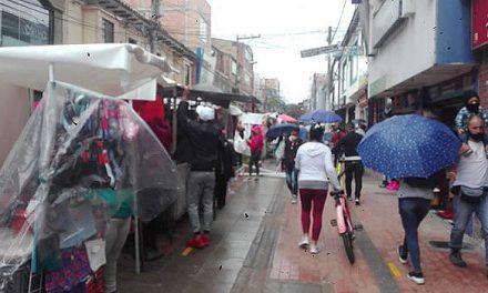 Desorden en calle 13 para ingreso al parque de Soacha
