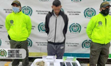 Capturan sujeto por  tráfico de droga en Soacha