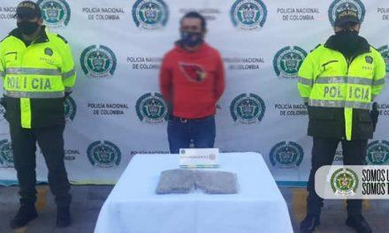 Capturan sujeto en Soacha por porte y tráfico de estupefacientes