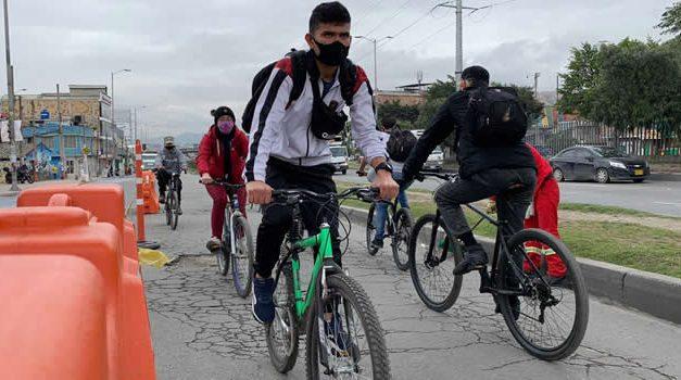 La bicicleta, alternativa de transporte en Soacha durante la cuarentena