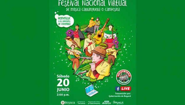 Sábado de  Festival virtual de música carranguera y campesina