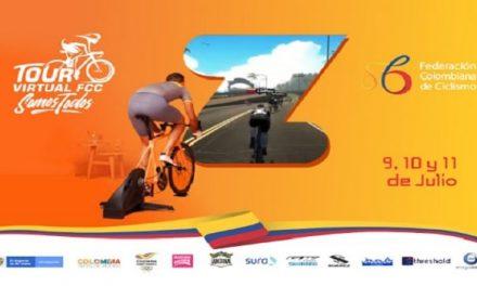 Empieza el Tour Virtual de ciclismo en Colombia