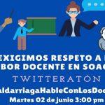 Lunes de llamado a desobediencia civil  y  anuncio de twitteratón  exigiendo mayor bienestar docente y estudiantil