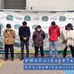 Diez capturados en Sibaté por tráfico de estupefacientes