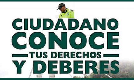 Policía Soacha  lanza folleto sobre derechos y  deberes de los ciudadanos