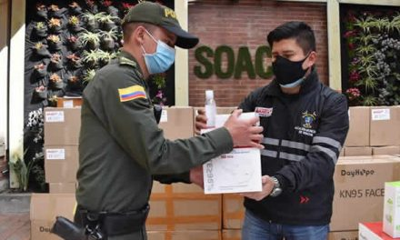 Elementos de bioseguridad para Ejército, CTI y Policía de Soacha