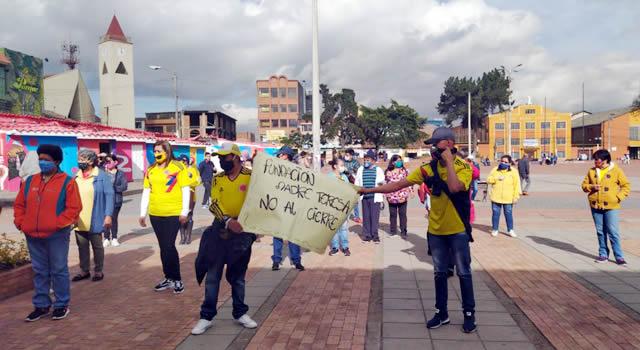 Otra protesta en Soacha, esta vez fueron madres de niños en condición de discapacidad