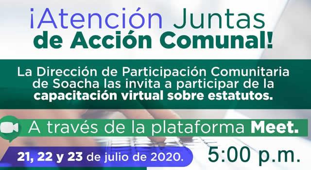 Capacitación comunal sobre estatutos de las JAC en Soacha