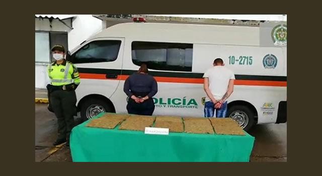 Capturan dos sujetos con 14 mil dosis de marihuana entre Mosquera y Girardot, Cundinamarca