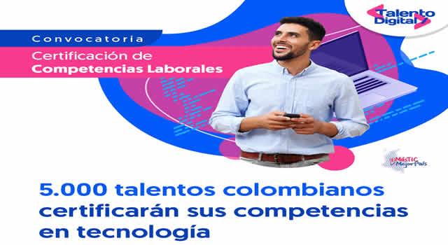 Cinco mil  colombianos podrán certificar sus competencias tecnológicas con apoyo del MinTIC y el SENA
