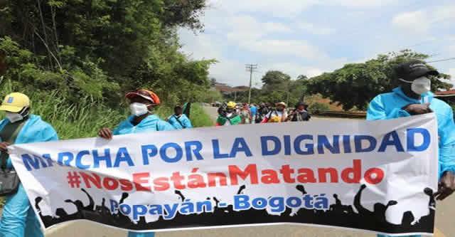Marcha por la dignidad llega  hoy a Soacha