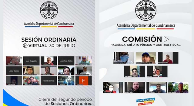 Este lunes comienzan sesiones extraordinarias en la Asamblea de Cundinamarca