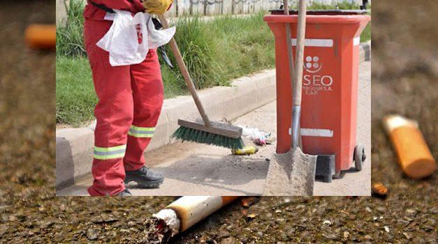 Colillas, vasos plásticos  y papeles al piso, la actitud constante de muchos residentes de Soacha