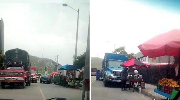 Atracos, droga y ventas ambulantes en una calle de Soacha