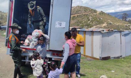 Carabineros entregan ayudas en área rural de Soacha