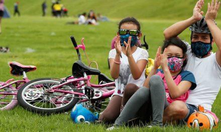 Ciclovía y parques  de Bogotá se llenaron luego de cinco meses de cuarentena