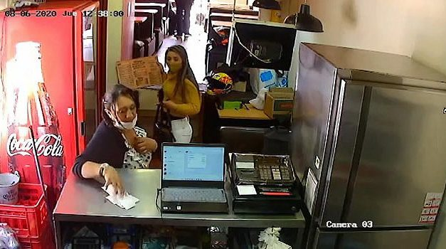 Así robaron un negocio de comidas rápidas en Soacha