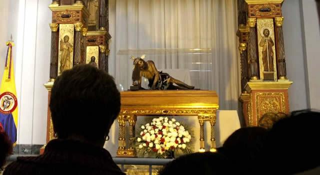 Imagen del Señor Caído de Monserrate partió de Soacha, este será su recorrido