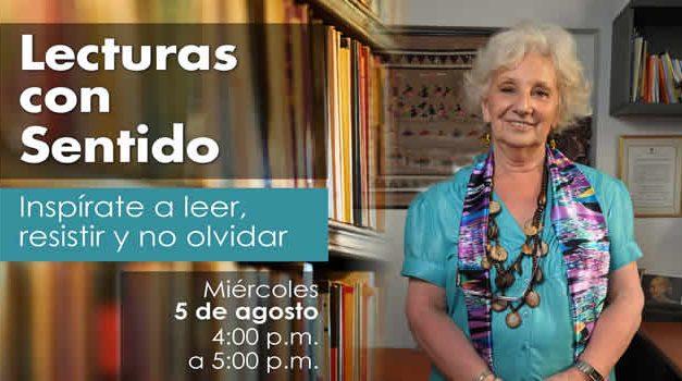 Una de las Abuelas de la Plaza de Mayo estará en la franja 'Lecturas con sentido'