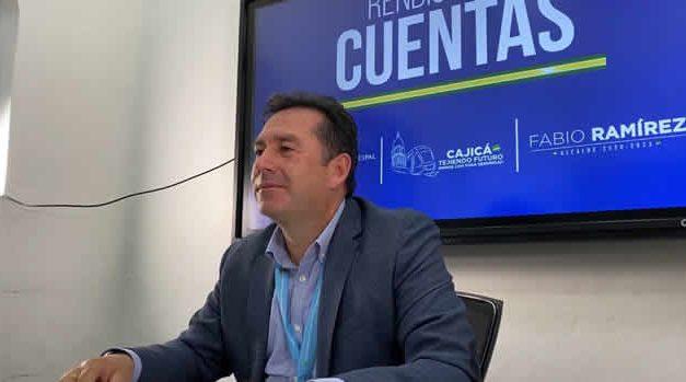 Alcalde de Cajicá realizó rendición cuentas del primer semestre 2020