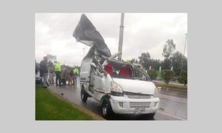 Muere conductor en accidente  de tránsito en la vía Madrid-Bogotá